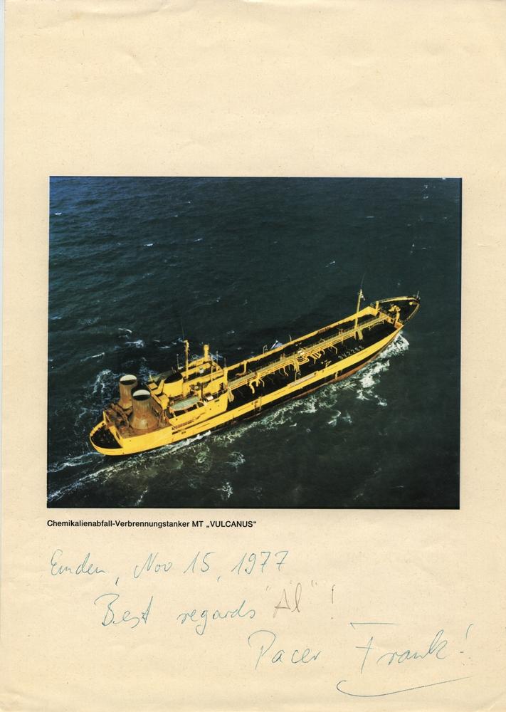 Photograph: Vulcanus Incinerator Ship