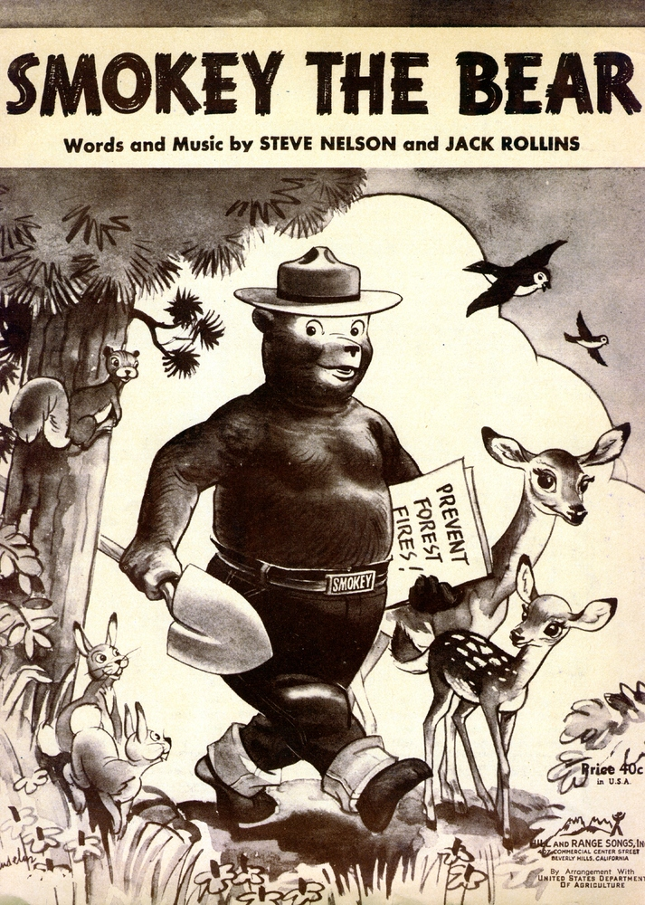 Smokey the Bear (sic) lyrics and music · Special Collections Exhibits