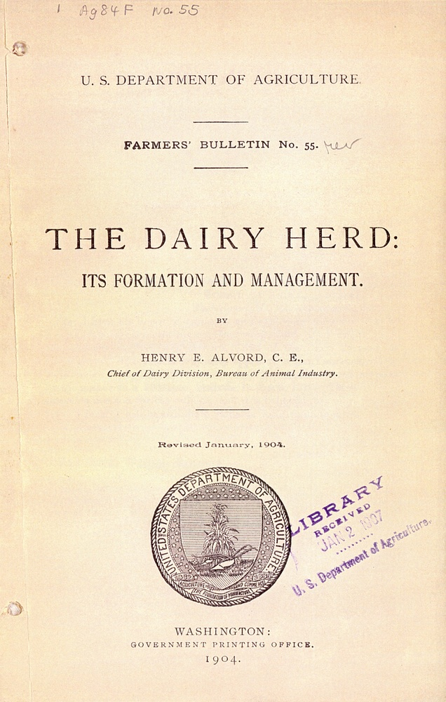 USDA Contributions to Dairying · The American Dairy Industry ...