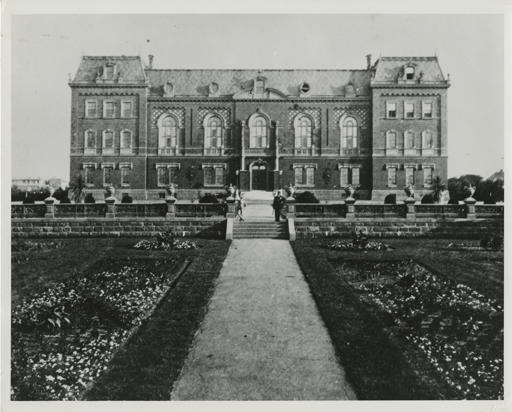 Thumbnail for the first (or only) page of The first Administration Building of the United States Department of Agriculture stood on the Mall side of the present Administration Building and was in use until the early 1900s.