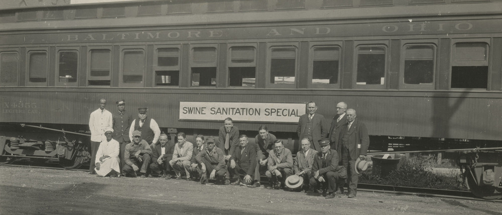 """Thumbnail for the first (or only) page of B&O railway car """" Swine Sanitation Special""""."""