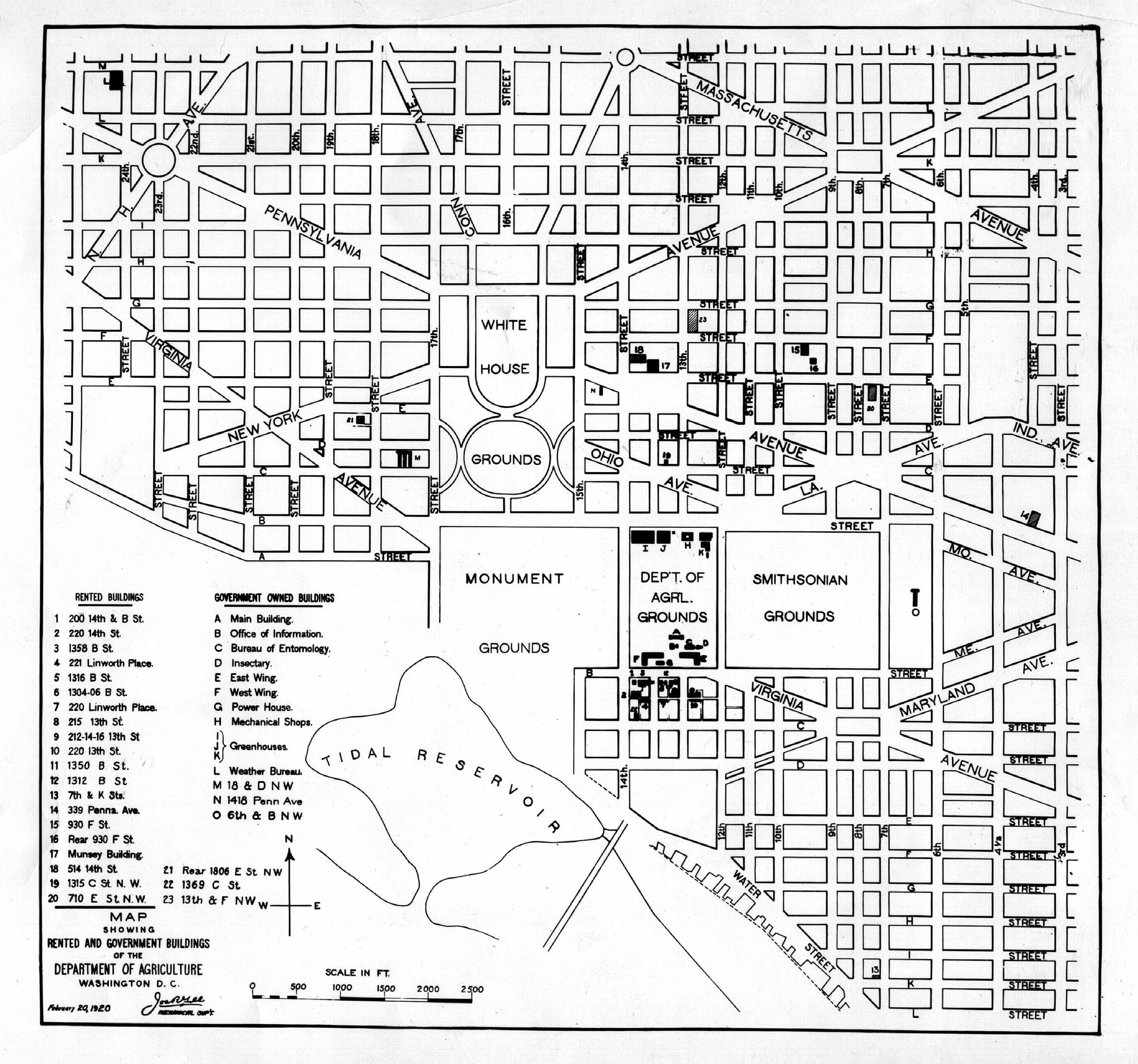 1920 Map, Washington, DC · Special Collections Exhibits