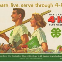 learn, live, serve through 4-H March 3-10 (1962).