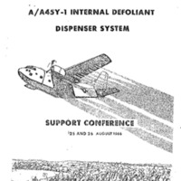 Minutes: A/A45Y-1 Internal Defoliant Dispenser System Support Conference, 25 and 26 August 1966