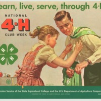 learn, live, serve, through 4-H March 5-12 (1960).