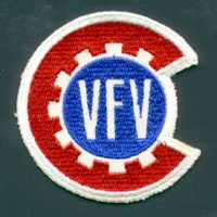 Embroidered patch for Victory Farm Volunteers.