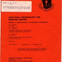 Analytical Methodology for Herbicide Orange: Vol. I: Determination of Chemical Composition, Final Report, December 1972-December 1974