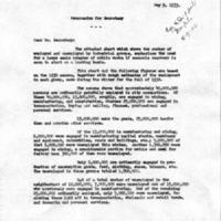 Ezekiel memo, May 9, 1933