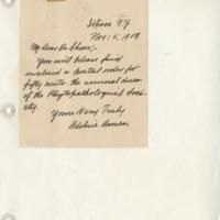 Handwriting sample: Adeline  Ames
