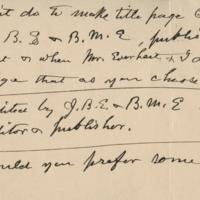 Handwriting sample: Job Bicknell Ellis