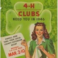 4-H Clubs Need You in 1946.