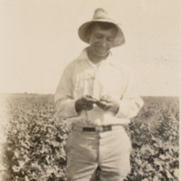 Ivan Shiller, the inspector who found the first pink bollworm in the United States at Hearne, Texas