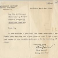 Handwriting sample: Sten  Ahlner