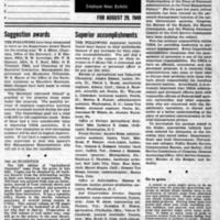 USDA, August 29, 1949 (Newsletter)