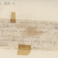 Handwriting sample: Edith K. Cash