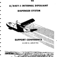 Minutes A/A45Y-1 Internal Defoliant Dispenser System Support Conference, 25 and 26 August 1966