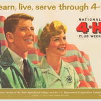 learn, live, serve through 4-H March 4-11 (1961).