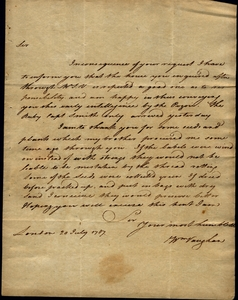 Thumbnail for the first (or only) page of Marshall letter, July 20, 1787.