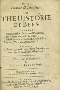 Thumbnail for the first (or only) page of The Feminine Monarchie: or The Historie of Bees.