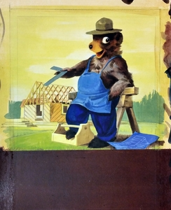 Thumbnail for the first (or only) page of Smokey says - Burned timber builds no homes. Prevent forest fires.