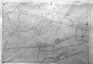Thumbnail for the first (or only) page of Map, Arlington research farm.