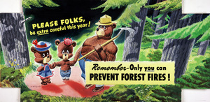 Thumbnail for the first (or only) page of PLEASE FOLKS be extra careful this year! Remember-Only you can PREVENT FOREST FIRES!.