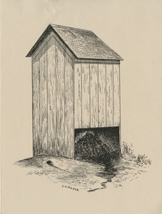 """Thumbnail for the first (or only) page of An open-backed surface privy, figure for """"The Sanitary Privy"""" by C. W. Stiles (1911), U.S. Department of Agriculture Farmers' Bulletin 463.."""