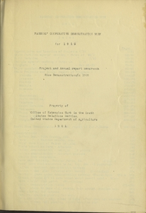 Thumbnail for the first (or only) page of Extension Service Report title page.