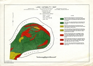 Thumbnail for the first (or only) page of Land capability map, Bearskin Lake.