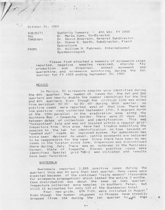 Thumbnail for the first (or only) page of Memo from William H. Fuhrman to Merle Kuns 1989-October-31. .