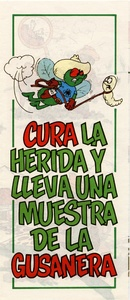 Thumbnail for the first (or only) page of Cura la Herida y Lleva una Muestra de la Gusanera.