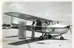 Thumbnail for the first (or only) page of Loading dispersing plan with fly holding cartons, approximately 1,000 per plane.