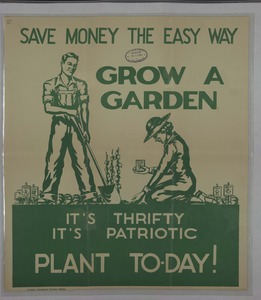 Thumbnail for the first (or only) page of Save Money the Easy Way. Grow A Garden. It's Thrisfy It's Patriotic Plant Today!.