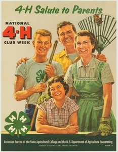 Thumbnail for the first (or only) page of 4-H Salute to Parents (1958)..