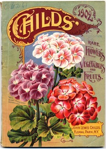 Thumbnail for the first (or only) page of Child's Rare Flowers, Vegetables, and Fruits.