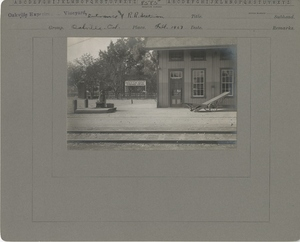 Thumbnail for the first (or only) page of Entrance and Railroad Station.