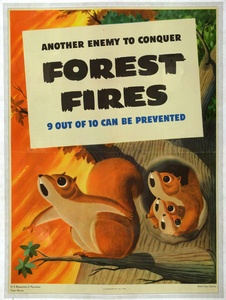 Thumbnail for the first (or only) page of Another enemy to conquer. Forest Fires. 9 out of 10 can be prevented.