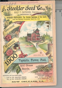 Thumbnail for the first (or only) page of Front Cover of J. Steckler Seed Co., Ltd..