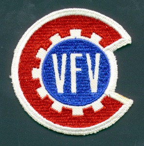 Thumbnail for the first (or only) page of Embroidered patch for Victory Farm Volunteers..