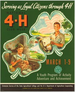 Thumbnail for the first (or only) page of Serving as Loyal Citizens through 4-H (1952)..