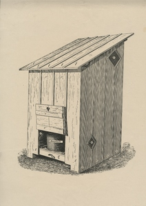 """Thumbnail for the first (or only) page of Sanitary privy design, figure for """"The Sanitary Privy"""" by C. W. Stiles (1911), U.S. Department of Agriculture Farmers' Bulletin 463.."""