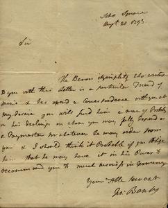 Banks to Marshall, August 28, 1793