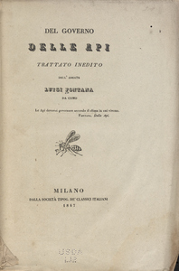 Thumbnail for the first (or only) page of Del governo delle api.