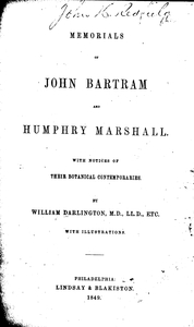 Darlington's Memorials, Title page