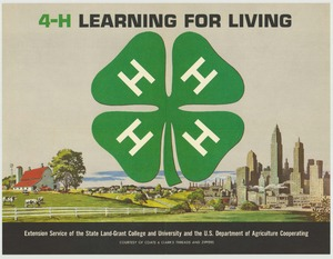 Thumbnail for the first (or only) page of 4-H Learning for Living (1966)..