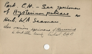 Thumbnail for the first (or only) page of Handwriting sample: Charles Horton Peck.