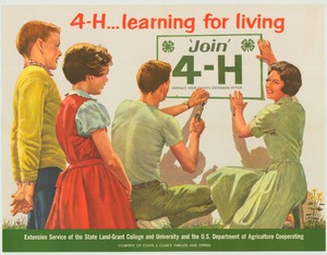 Thumbnail for the first (or only) page of 4-H . . . learning for living (1964)..