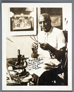 Thumbnail for the first (or only) page of Signed photograph of George Washington Carver.