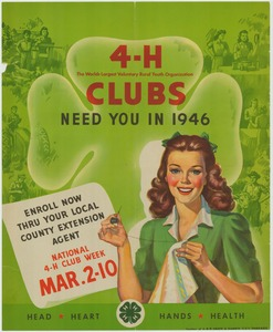 Thumbnail for the first (or only) page of 4-H Clubs Need You in 1946..