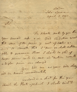 Banks to Marshall, April 3, 1790